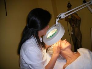 Kosmetik Ausbildung -Reinigung